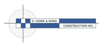 D. Howe and Sons Construction Logo